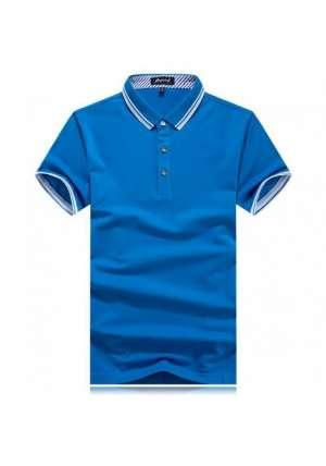 蓝色定制T恤搭配技巧