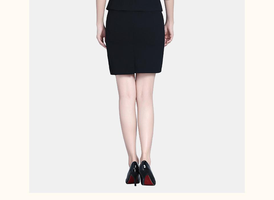 新款黑色夏装半袖职业装女装